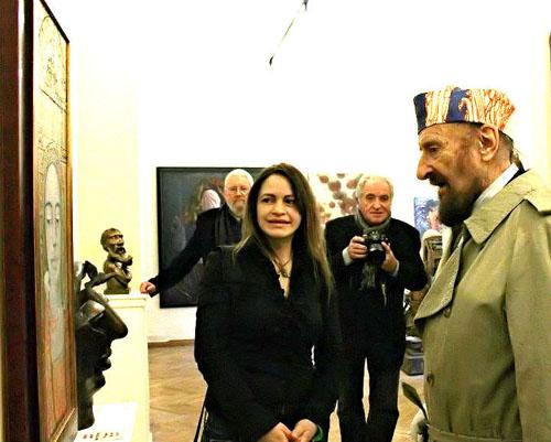 Vesna Krasnec und Prof. Ernst Fuchs, Phantasten Museum Wien, 2012