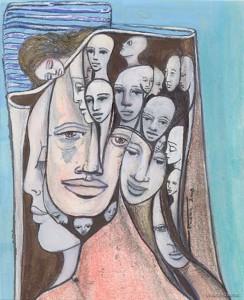 Acryl / Tempera auf Papier -  13 x 11 cm - 2008