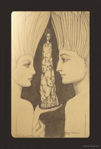Kugelschreiber / Bleistift auf Papier - 21 x 13 cm - Michael Fuchs und Vesna Krasnec - 2008