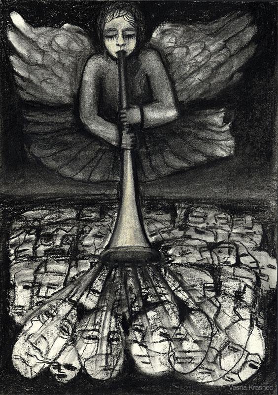Kohle auf Papier - 24 x 17 cm - 2009